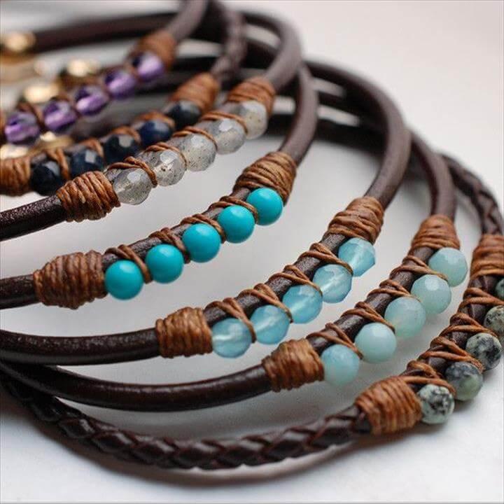 ocean color bracelets