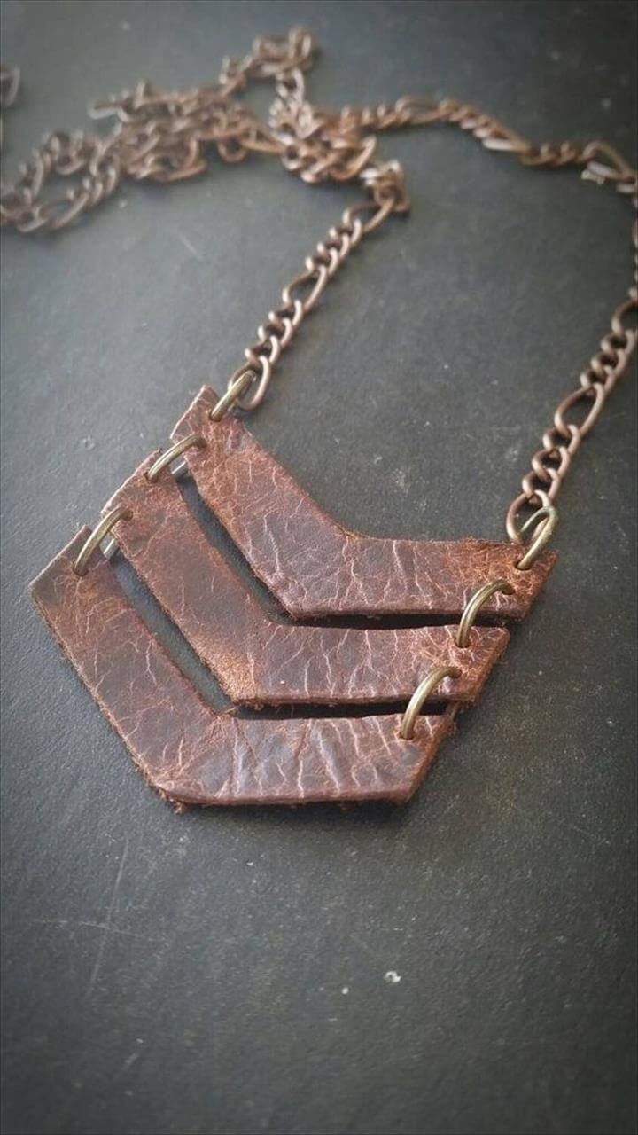 leather chain DIY bracelet