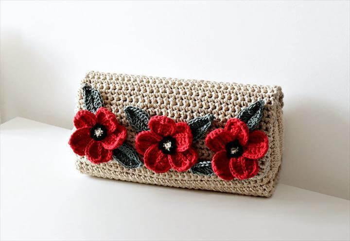 Crochet Pattern Crochet Bag Pattern crochet purse pochette pattern woman bag, evening bag, summer