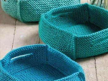 crochet basket, basket for storage