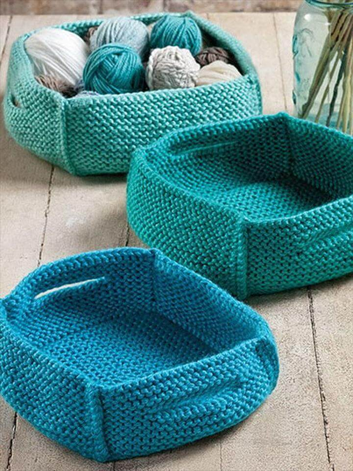 crochet basket, basket for storage