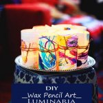 Wax Pencil Art Luminaria – Best Easy Funny DIY Thanksgiving Kid Project Craft Ideas