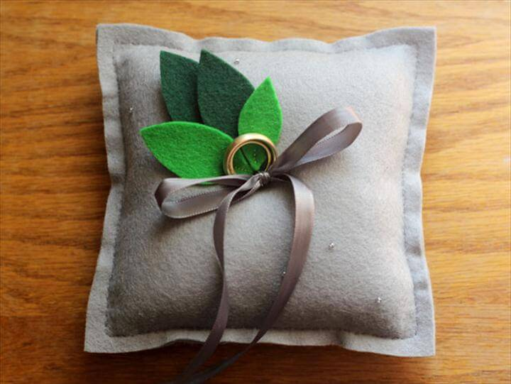 Beautiful DIY Ring Pillows To Make