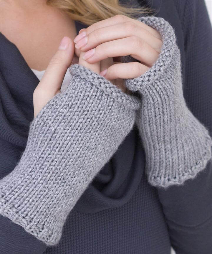 Free Knitting Pattern for Really Easy Wristers