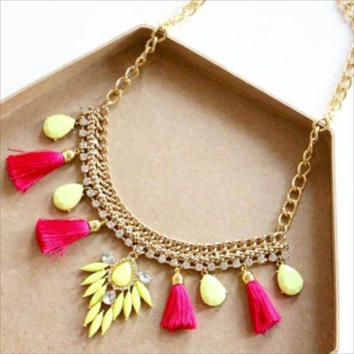 Handmade Neon Pop Necklace