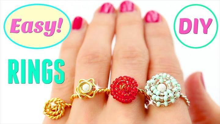 4 DIY rings