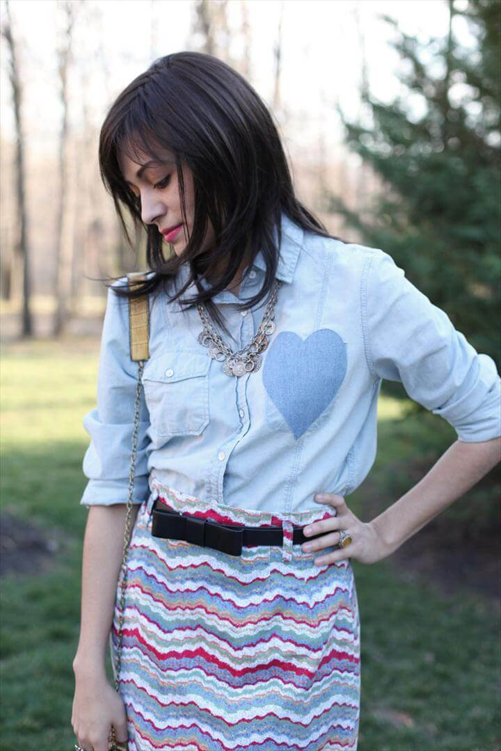 diy denim heart