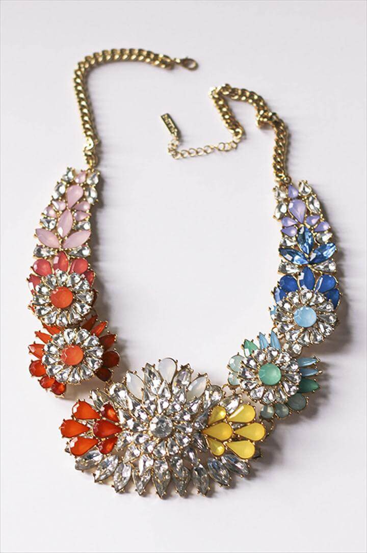 colorful embellished necklace