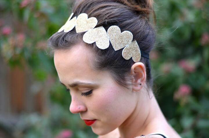 heart headband, headband tutorial
