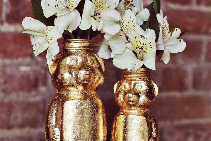 Gold Honey Bear Vase DIY