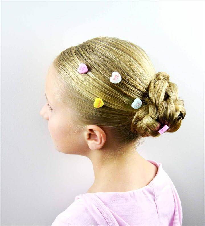 Candy Heart Hair Pins for Valentine's Day from BabesInHairland.