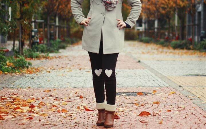 Diy Heart Patch Legging