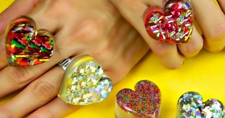 DIY Heart Shaped Rings