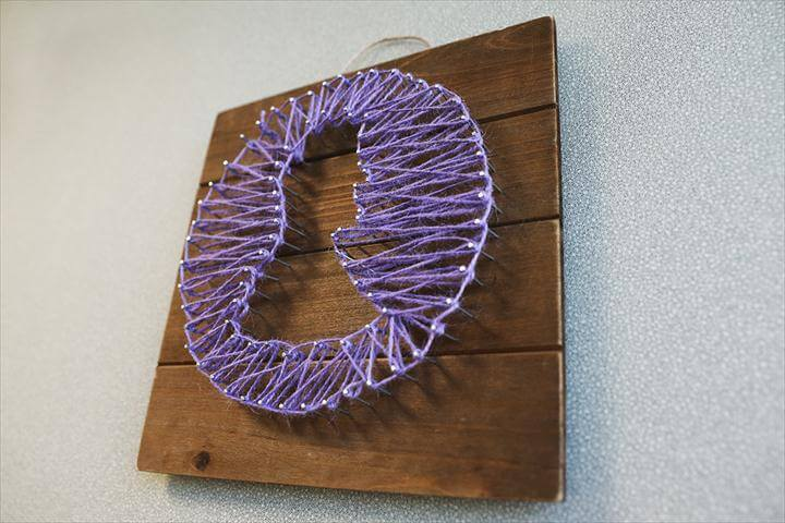 Diy decor. A DIY nail string art project.