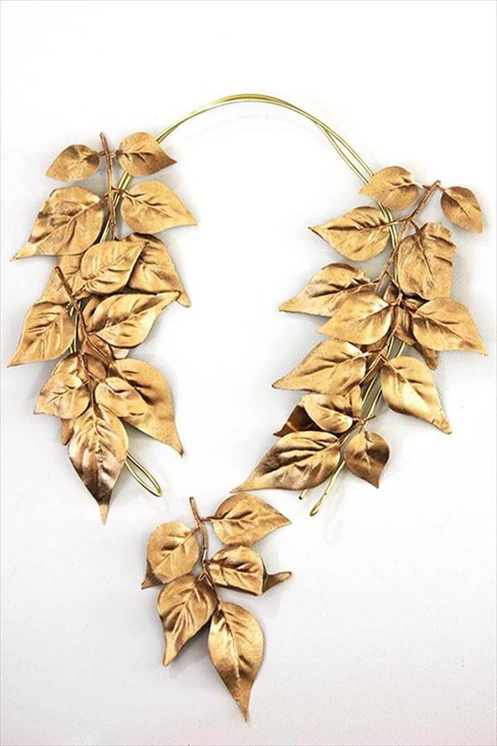 leaf necklace, diy necklace