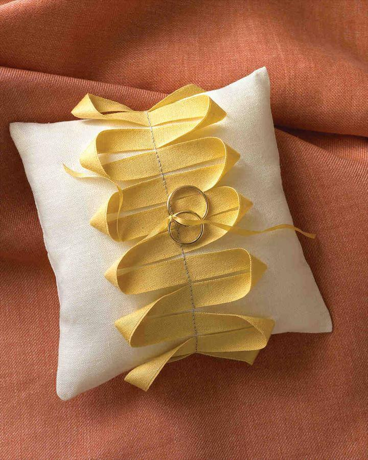 Ribbon Ring Pillow