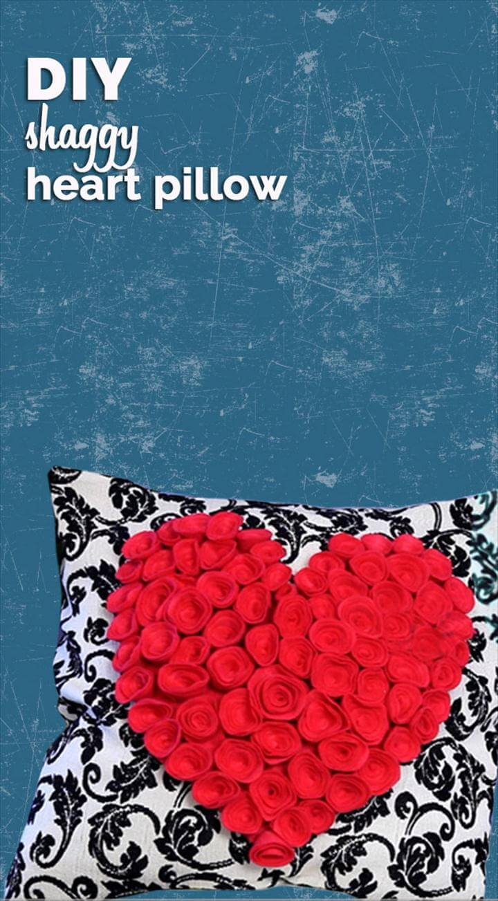DIY Room Decor Ideas for Teens - Cute Bedroom Decor Like This Shaggy Heart Pillow