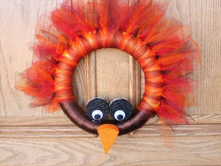 DIY turkey wreath Thanksgiving craft, Simply Being Mommy