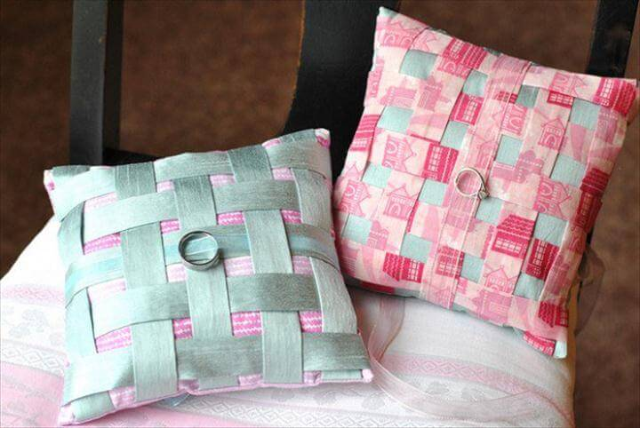 Woven Ring Pillows for Stitch Craft