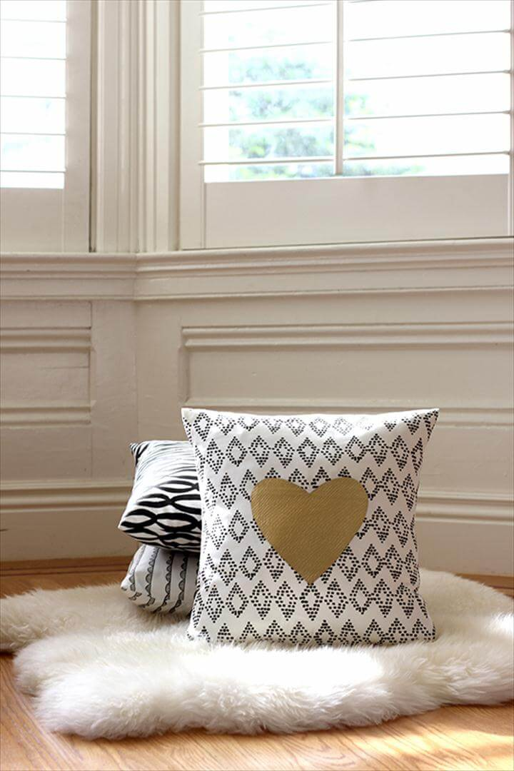 sweet Valentine's Day pillow.
