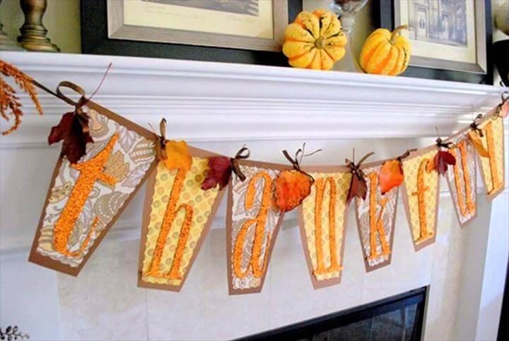 Fireplace Mantel Thanksgiving Theme Decor Thanksgiving