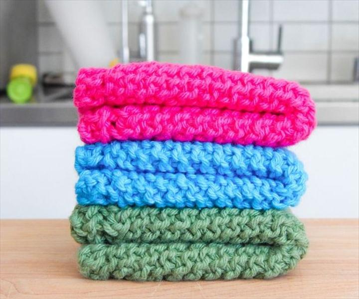 Easy Knit Dishcloth