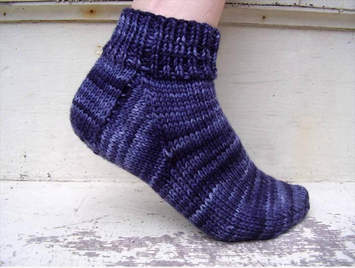 free easy knitting sock pattern