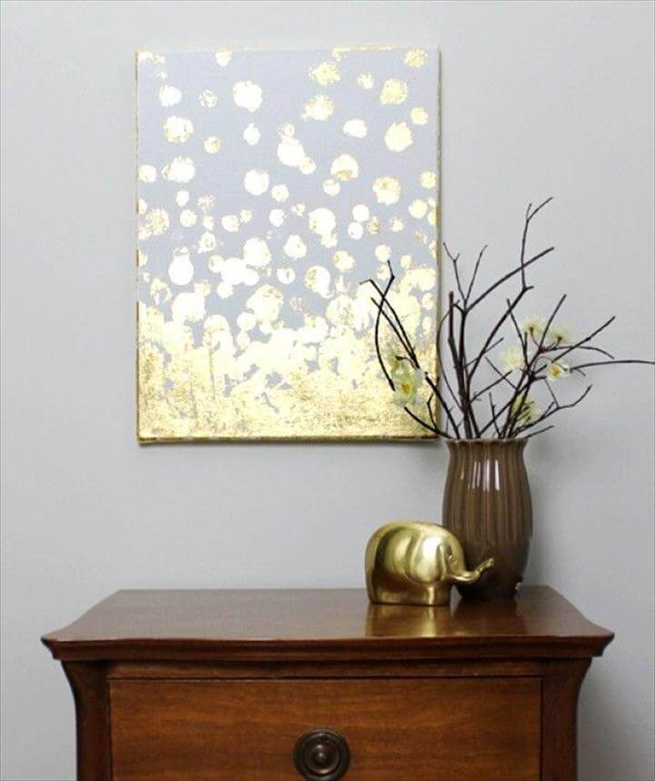 Wall art gold leaf