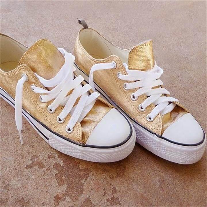 sneakers 24K gold
