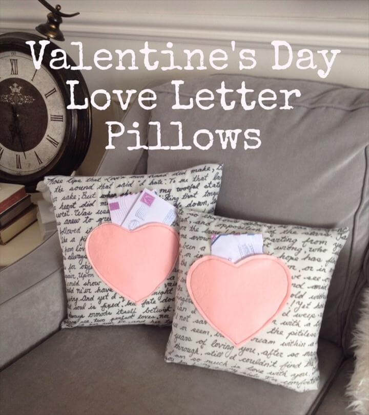 Valentine's Love Letters Pillows