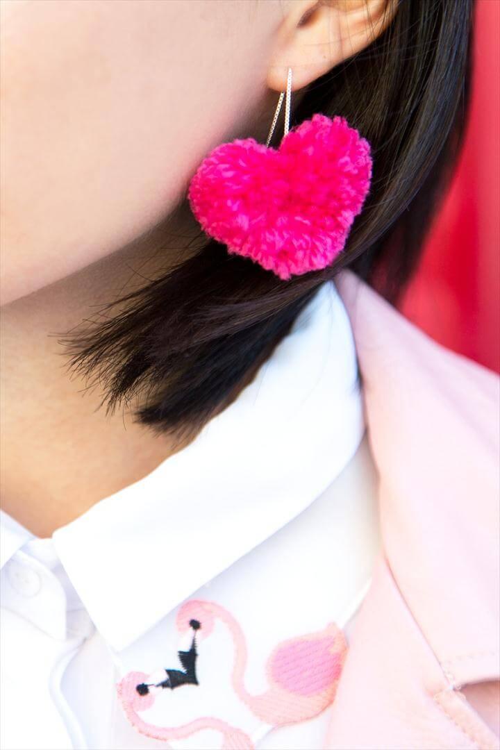 heart earrings tutorial