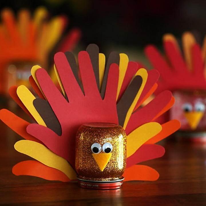 Hand-Marked Glitter Turkey