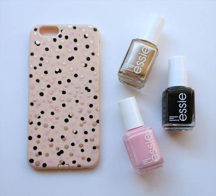 Confetti Dot Phone Case DIY
