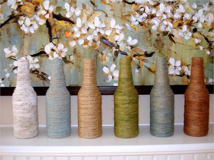 Flowers Decor,DIY Home decor,Wine Bottle Decor