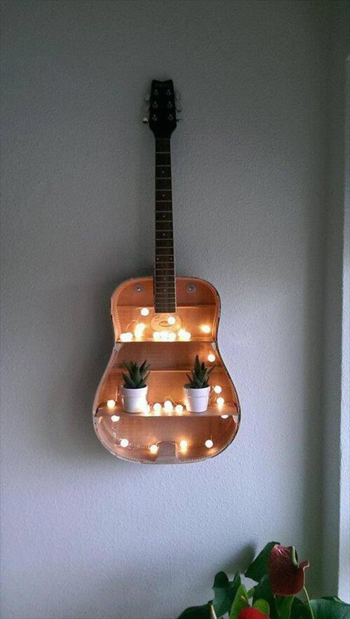 DIY Home Decor,Guitar Ideas,Guitar decor