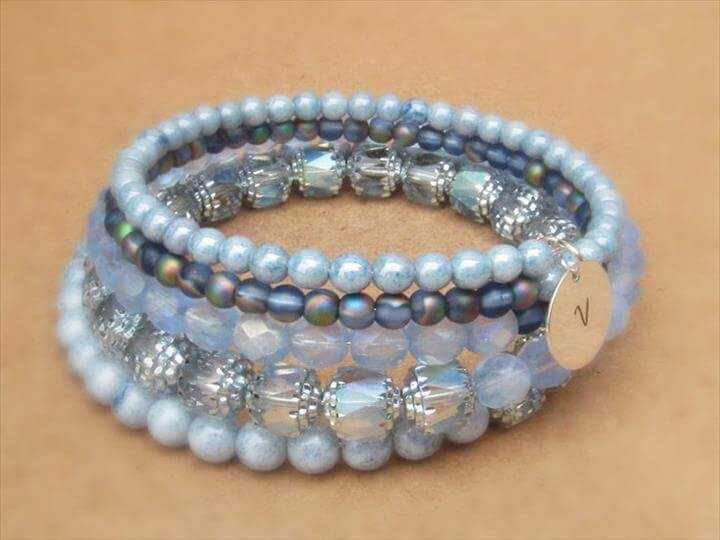 Blue Bracelet,DIY Bracelet,Jewelry Beaded