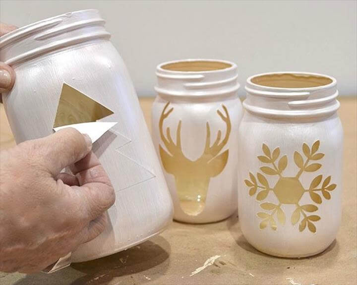 diy painted mason jar, diy craft ideas, diy simple mason jars