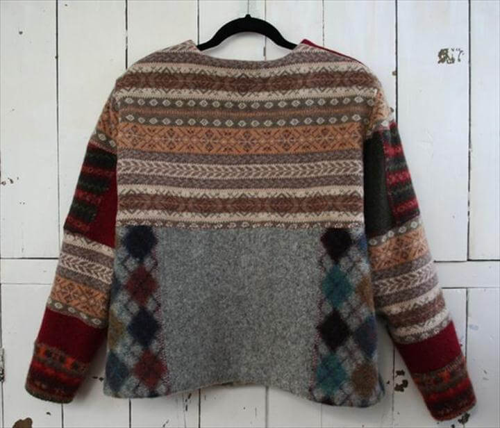 diy recycled sweater