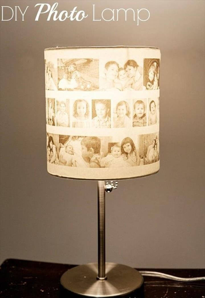 image lamp ideas, photo lamp idea, diy photo lamp decor