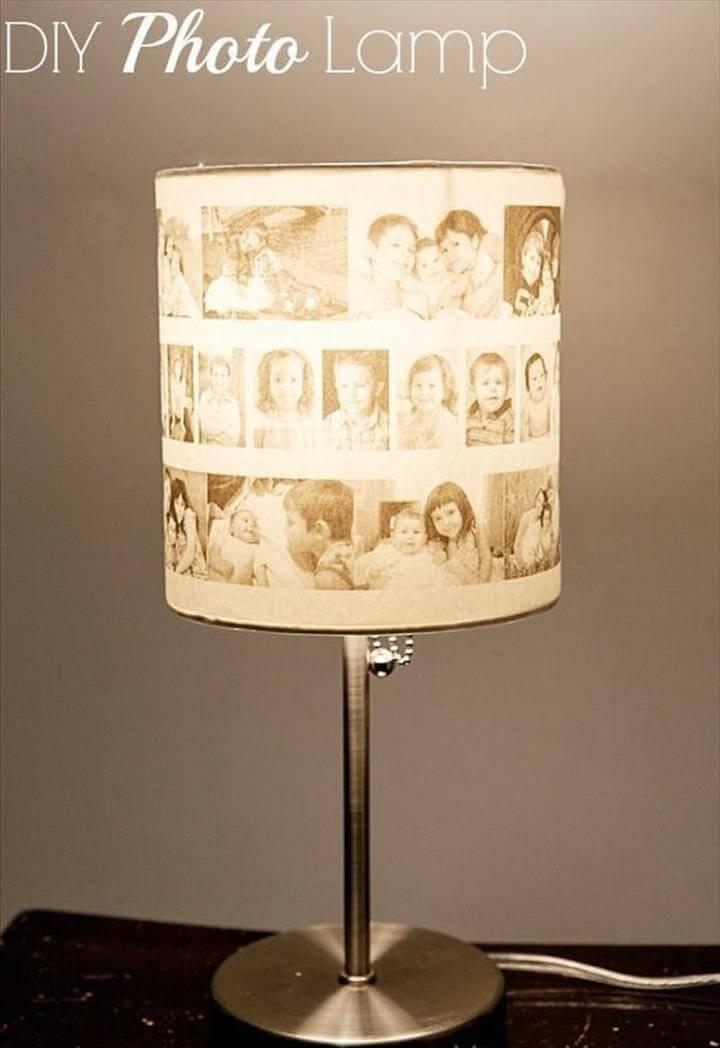 image lamp ideas, photo lamp idea, diy photo lamp decor