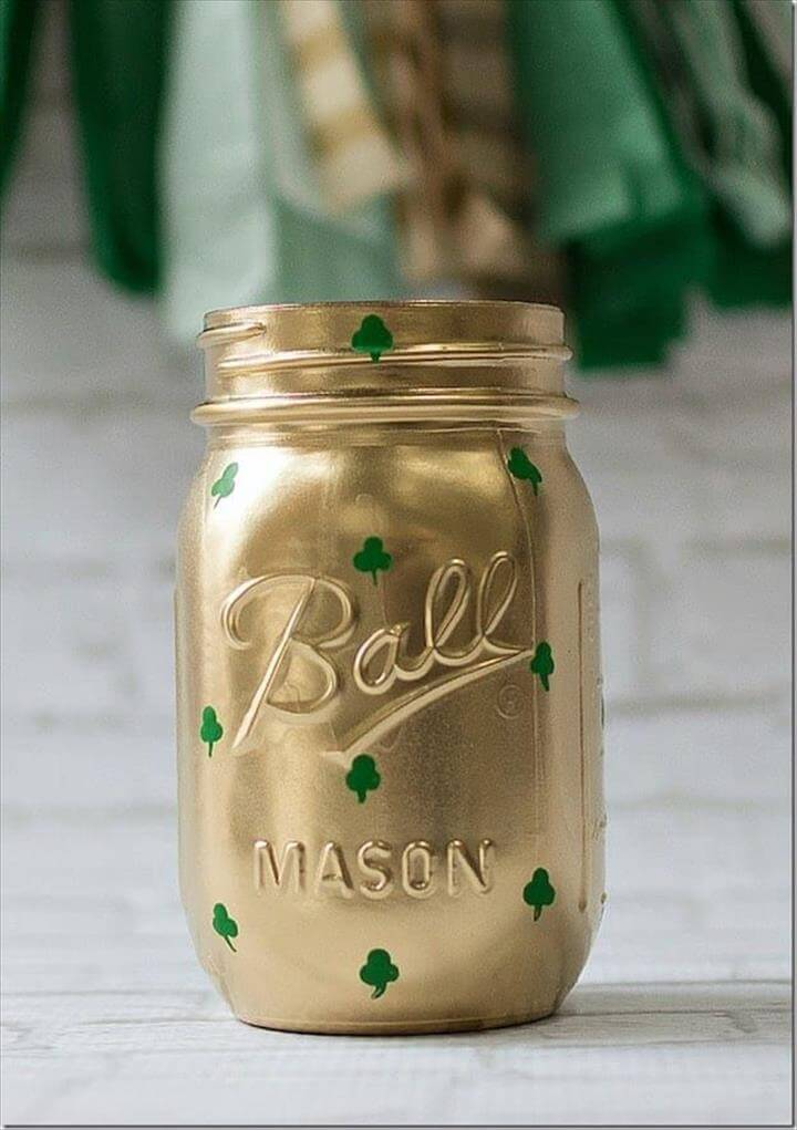 golden mason jar, diy mason jar, diy beautiful mason jar, diy ideas
