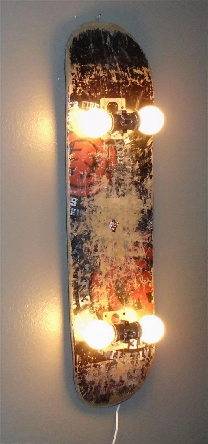 wall hanging lamp, diy lamp idea, wall decor idea
