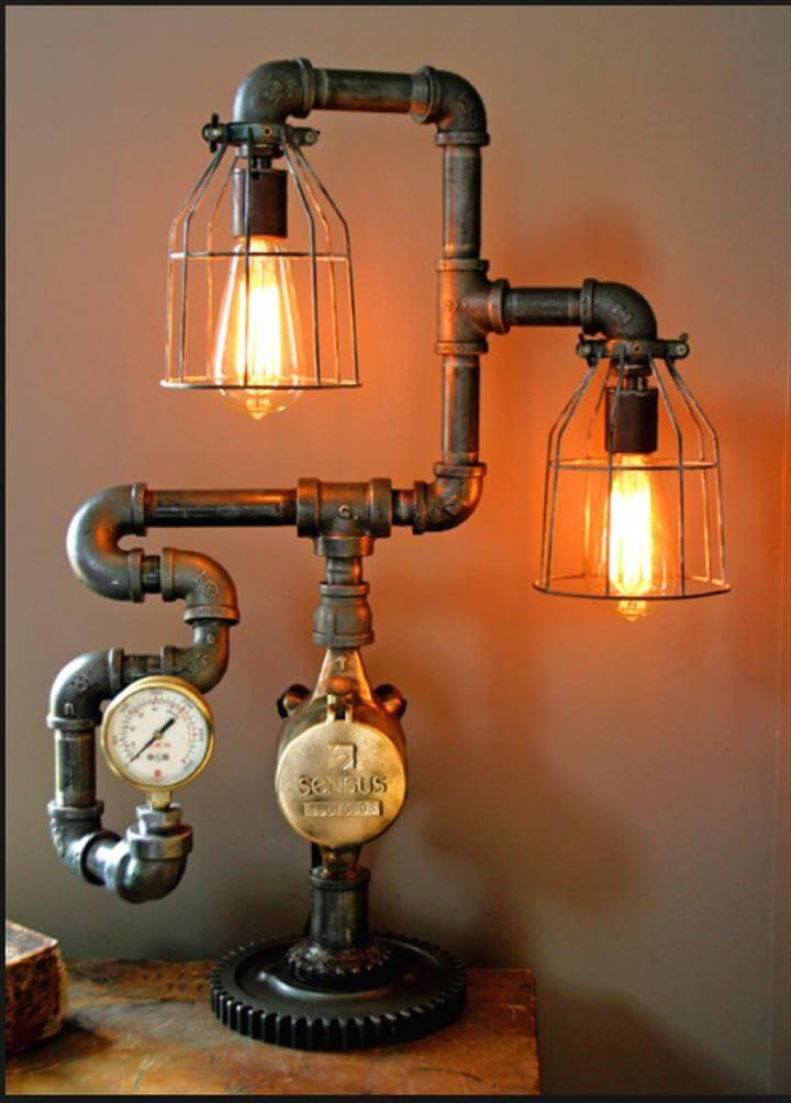 Attractive lamp idea, cheap lamp idea, diy lamp idea