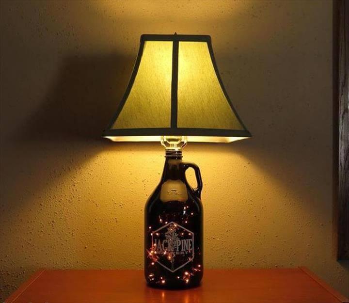 simple lamp idea, cheap lamp ideas, do it yourself