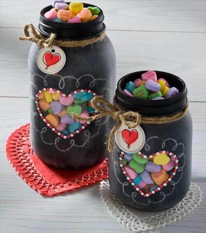 Decor mason jar, diy decor home with mason jar, diy heart mason jar