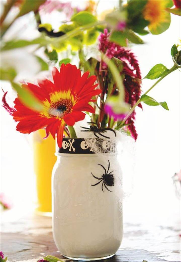 Nice mason jar, diy mason jar ideas, do it yourself ideas, diy flower mason jar, diy decor mason jar