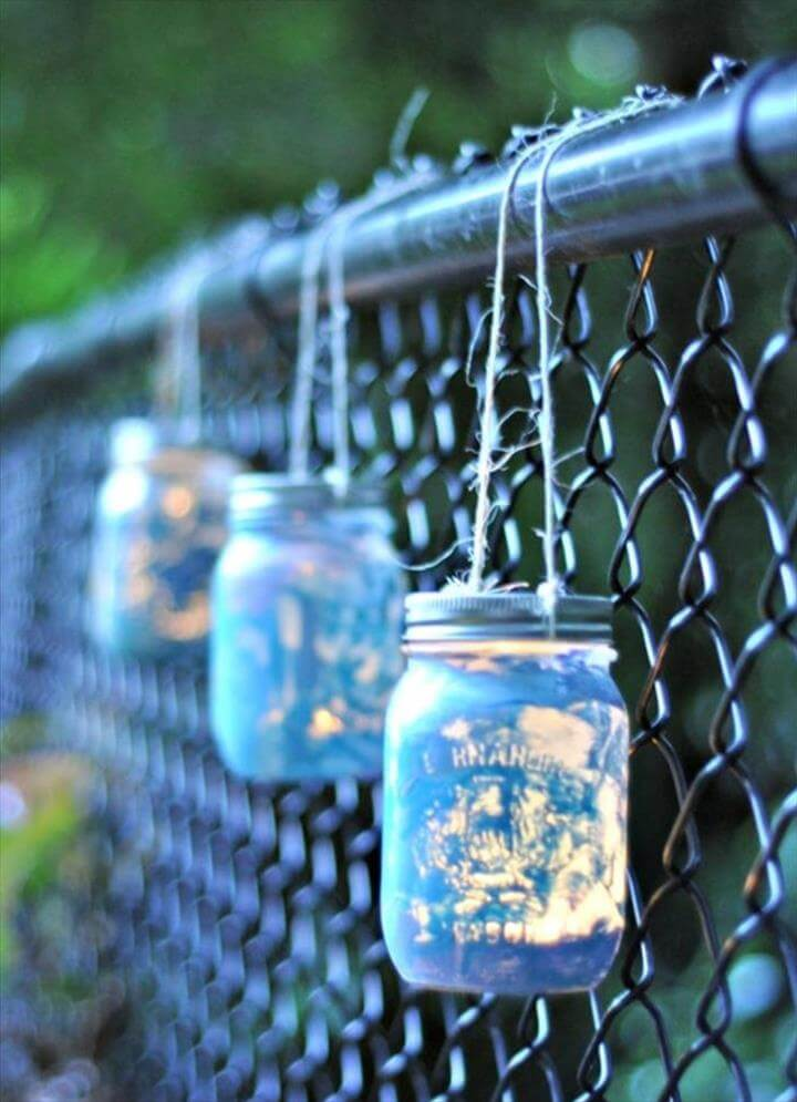 lantern mason jar, diy lantern jars, diy hanging jar ideas