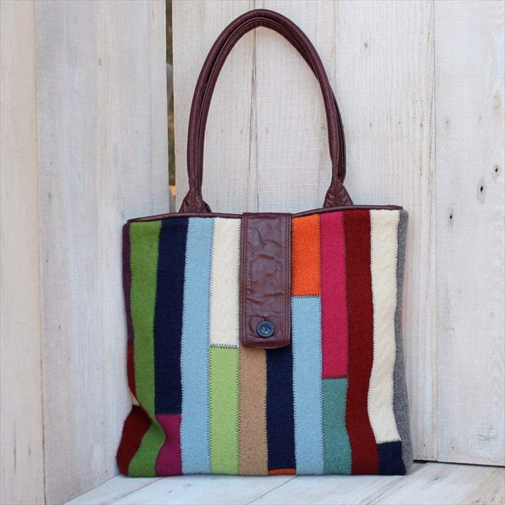 diy, sweater bag, recycled bag, bag design