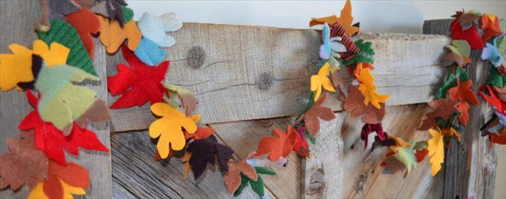 DIY Recycled Sweater Fall Garland