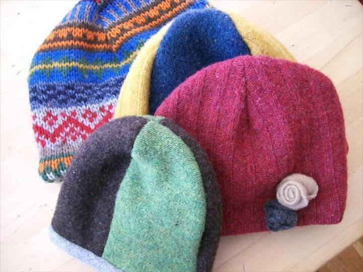 Recycled Sweater Hat Pattern